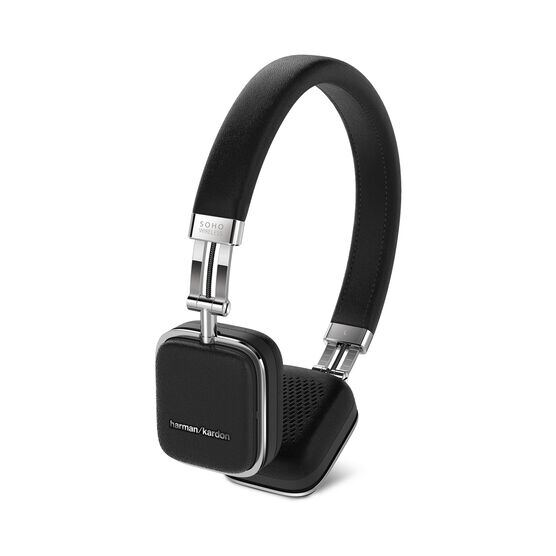 Soho Wireless - Black - Premium, on-ear headset with simplified Bluetooth® connectivity. - Front